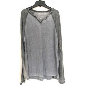Lucky Brand Venice Burnout Raglan T-Shirt